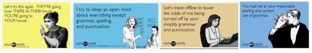 Grammar, spelling, punctuation