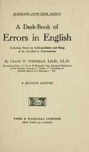 A Desk-Book of Errors in English (1920), F. H. Vizetelly