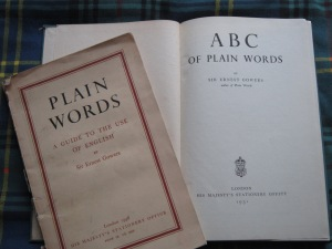 Gowers's Plain Words (1948) and his ABC of Plain Words