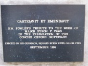 Plaque for Major Byron F. Caws