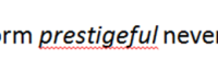 Microsoft Word's comment