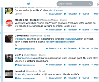 koffie's: a twitter search