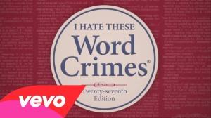 vevo #WordCrimes