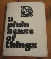 Plain Sense of Things