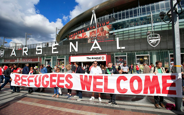 Refugees welcome Arsenal
